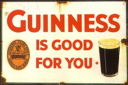 Did you know that Guinness was once promoted as a healthy drink?That is a fact. Strange but true.