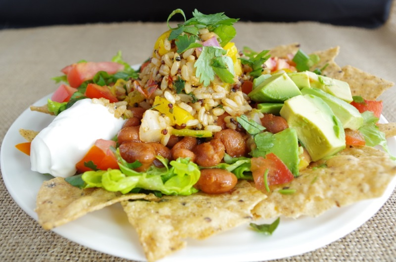 Farmer's Market Burrito Bowl - a quick + healthy weeknight meal - FitCakery.com