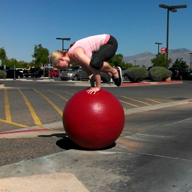 My talented yoga teacher, @arielbowlin on Instagram