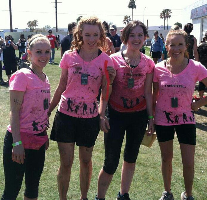 Some of my besties & me, after a muddy (aka awesome) Zombie 5k!