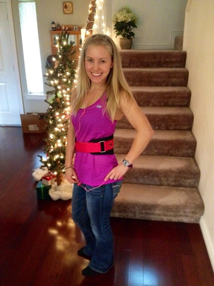 Loving some of my new Christmas workout gear... notice a bit of pink!