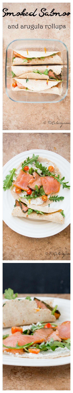 {Al-Fresco}Smoked Salmon-Arugula Rollups recipe - FitCakery.com
