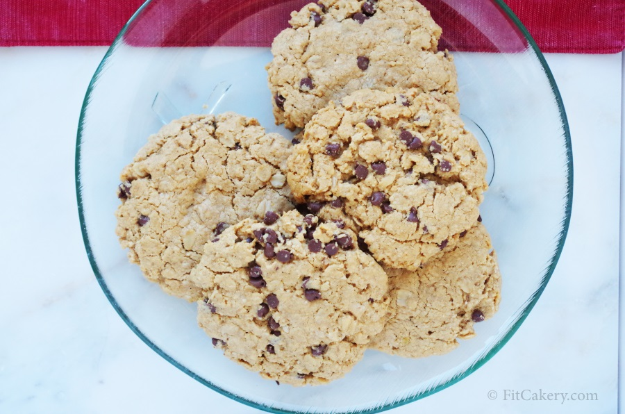 Fancy Gluten-Free Peanut Butter Chocolate Chip Cookies | FitCakery.com