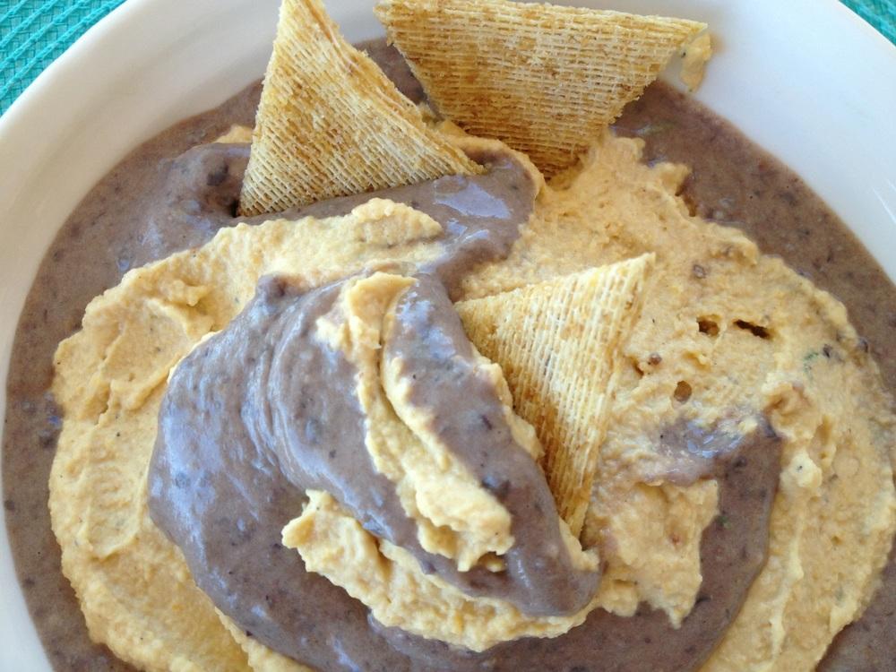Black and Tan Hummus recipe | FitCakery.com