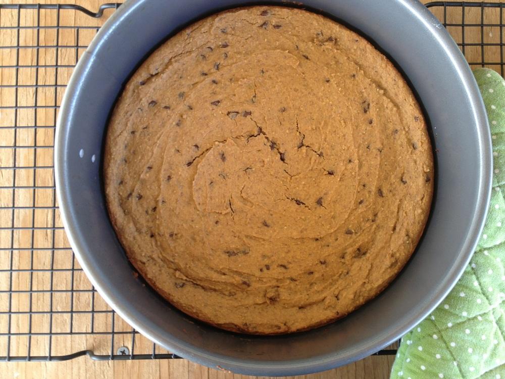 Peanut ButterPizookie - gluten-free, vegan | FitCakery.com