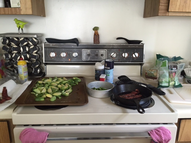 Real pics of my meal prep in action! It got a tad squished but I did it all pretty quickly!