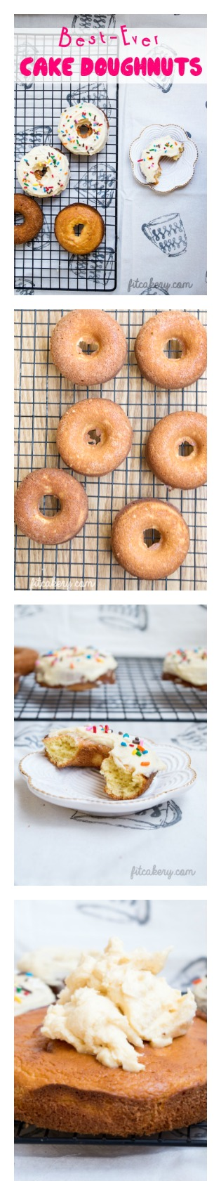 Best-Ever Cake Doughuts | gluten-free, low-carb, high-protein | FitCakery.com