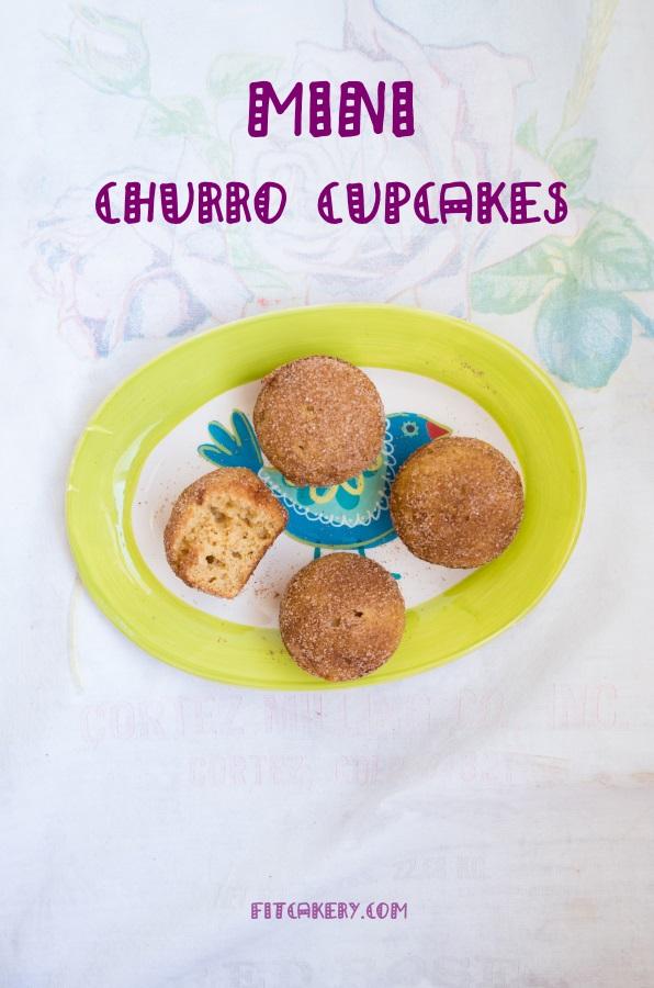 Mini Churro Cupcakes | FitCakery.com