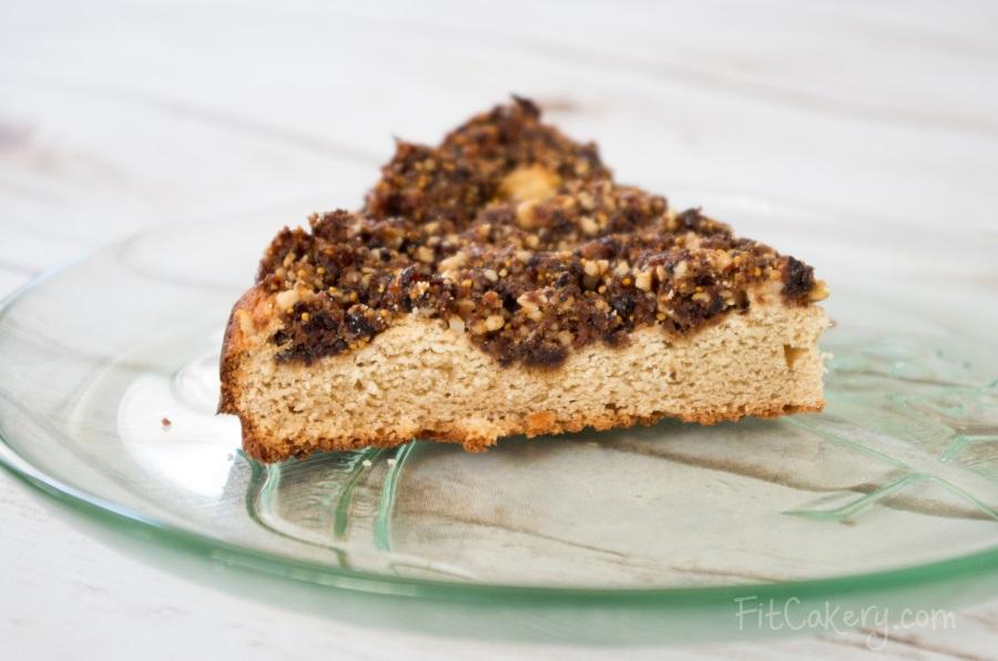 Fig Walnut Coffee Cake | gluten-free, vegan-friendly, high-protein | FitCakery.com