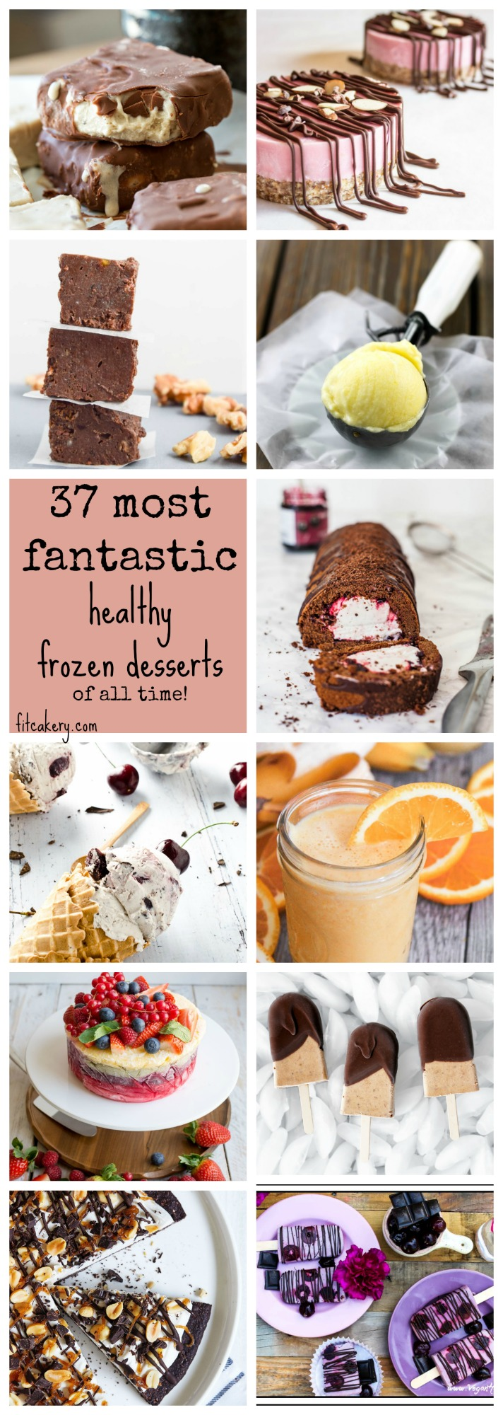37 Most Fantastic Healthy Frozen Desserts - Of All Time! | collection of vegan, gluten-free, and other healthy desserts for summer | at FitCakery.com