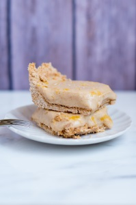 13.  Frozen Lemon Bars  - FitCakes