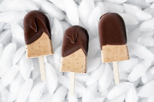 31.  Dreamy Peanut Butter & Banana Chocolate Popsicles  - Occasionally Eggs