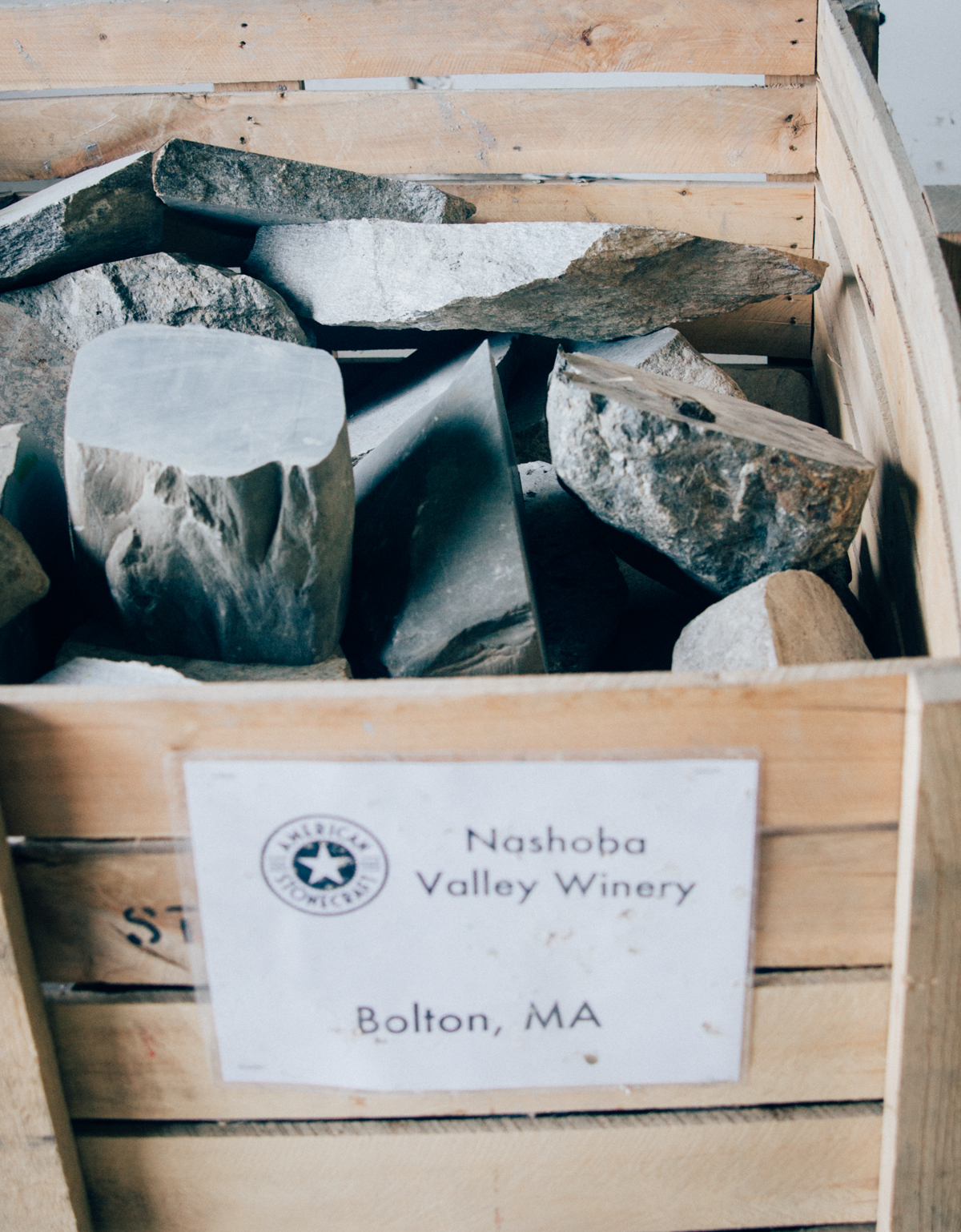 Stones are sourced from New England Farms.