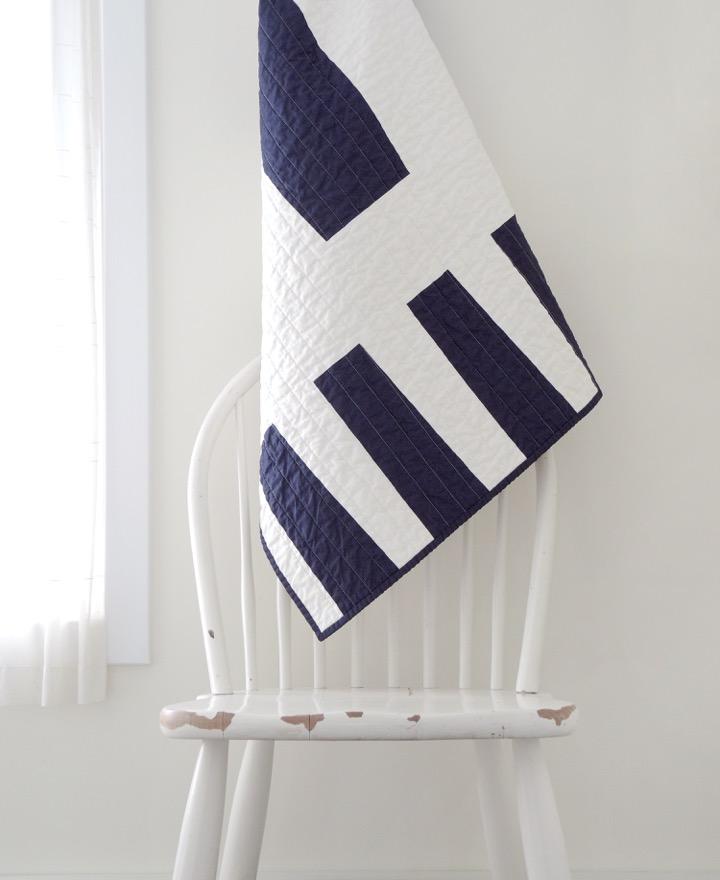 Modern Baby Quilt - Navy Variation