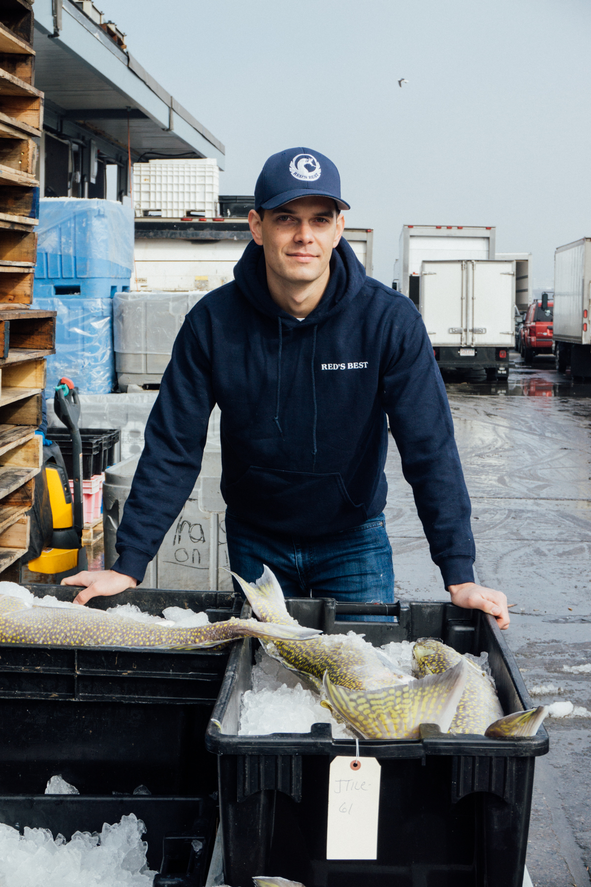 Retail Operations Manager, Ryan Rasys, oversees Red's Best retail location at Boston Public Market.