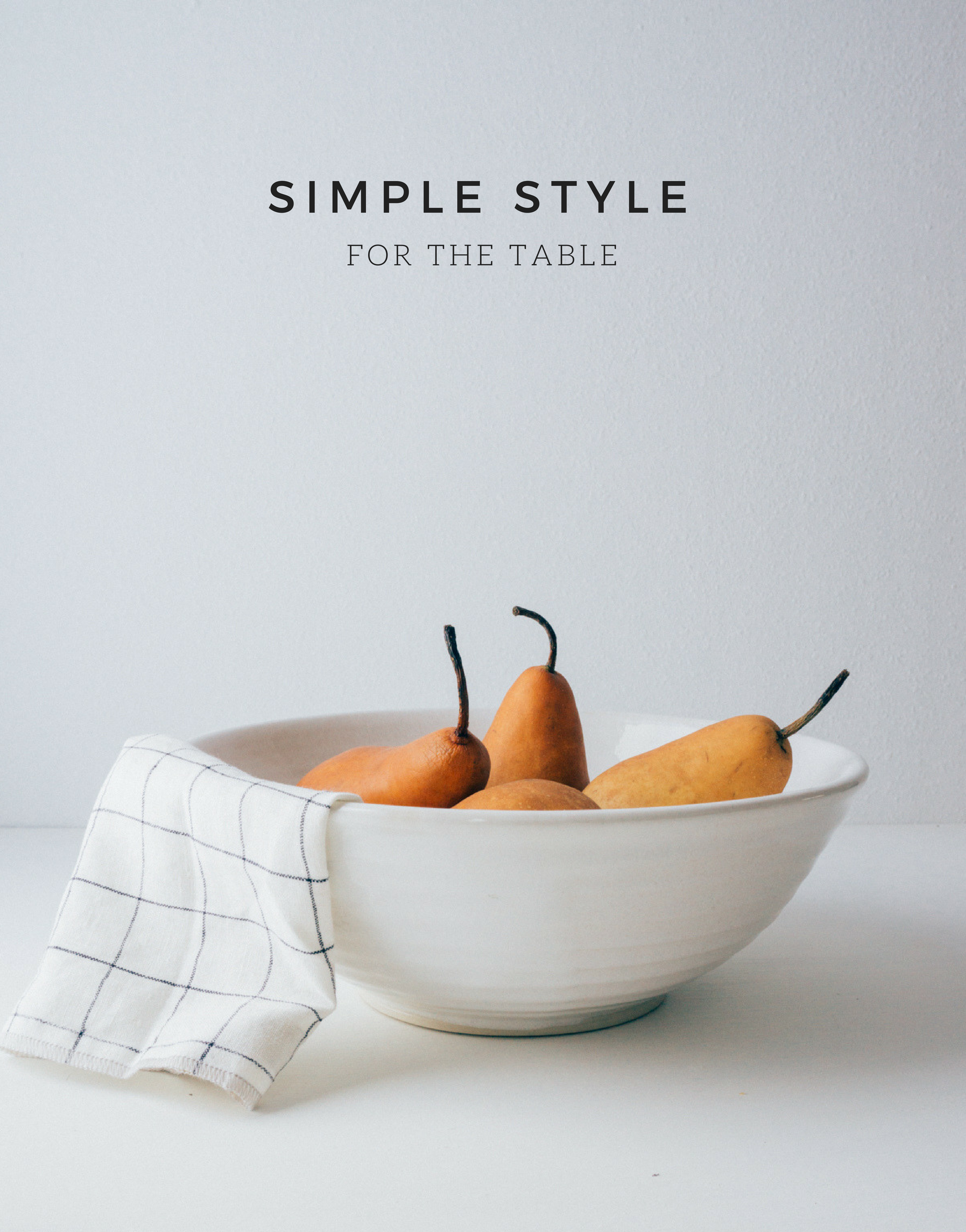 White Serving Bowl by Amanda Ann Palmer Ceramics (VT) and Windowpane Linen Hand Towel by The Everyday Co. (MA).