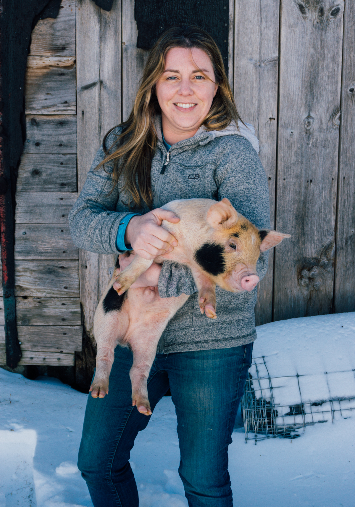 """Passionate about our animals and our approach."" - Kate Stillman manages the farm, the animals, production and her family."
