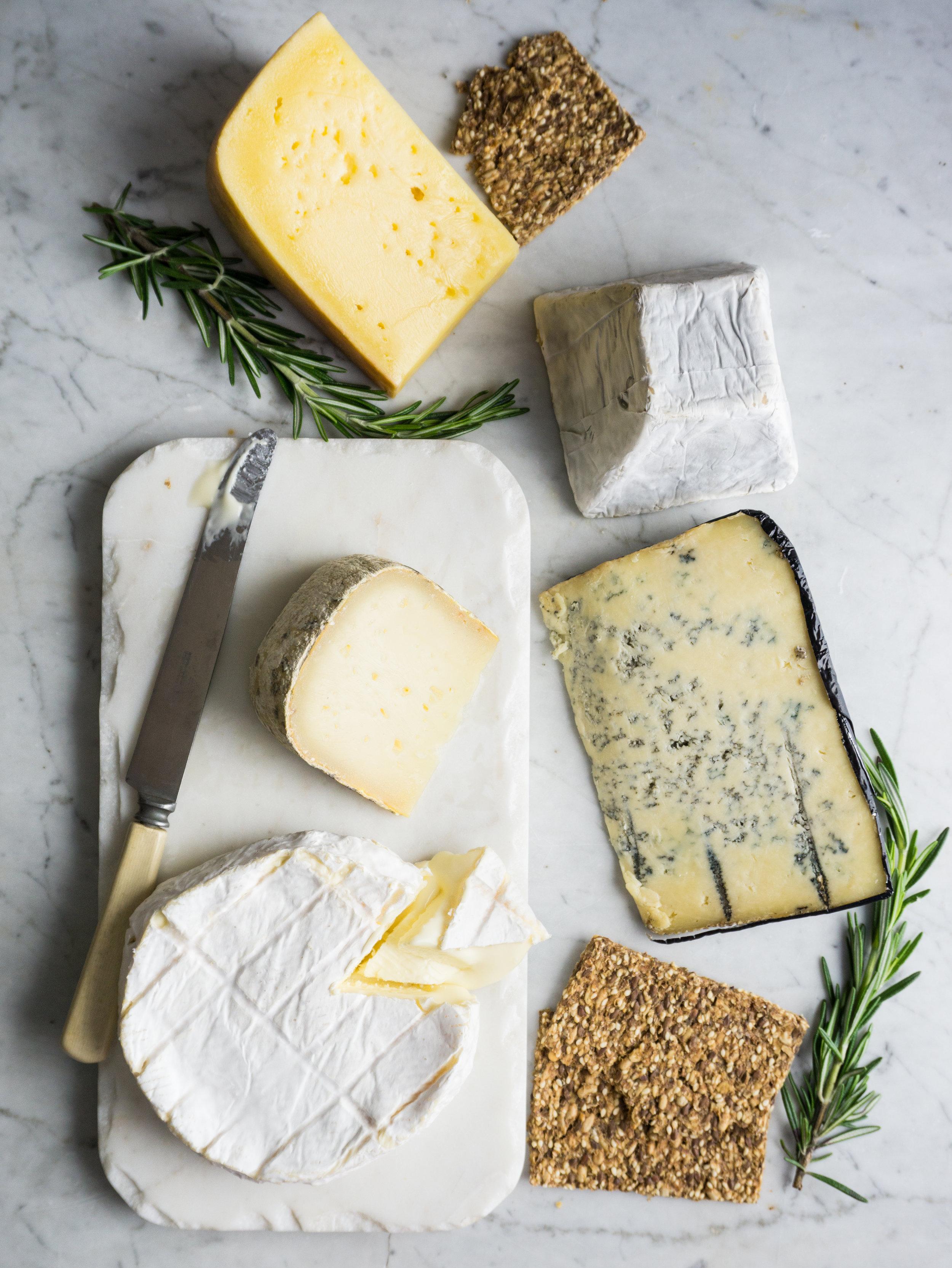 Massachusetts cheese varieties. From top:  Robinson Family Swiss - Robinson Farm's  (Hardwick, MA.) , Ellie's Cloudy Down - Ruggles Hill Creamery  (Hardwick, MA.) , sheep's milk Evelina  -  Couët Farm & Fromagerie  (Dudley, MA.) , Bluebird - Grey Barn  (Chilmark, MA) , Sunset Hill - Appleton Farms  (Ipswich, MA.).