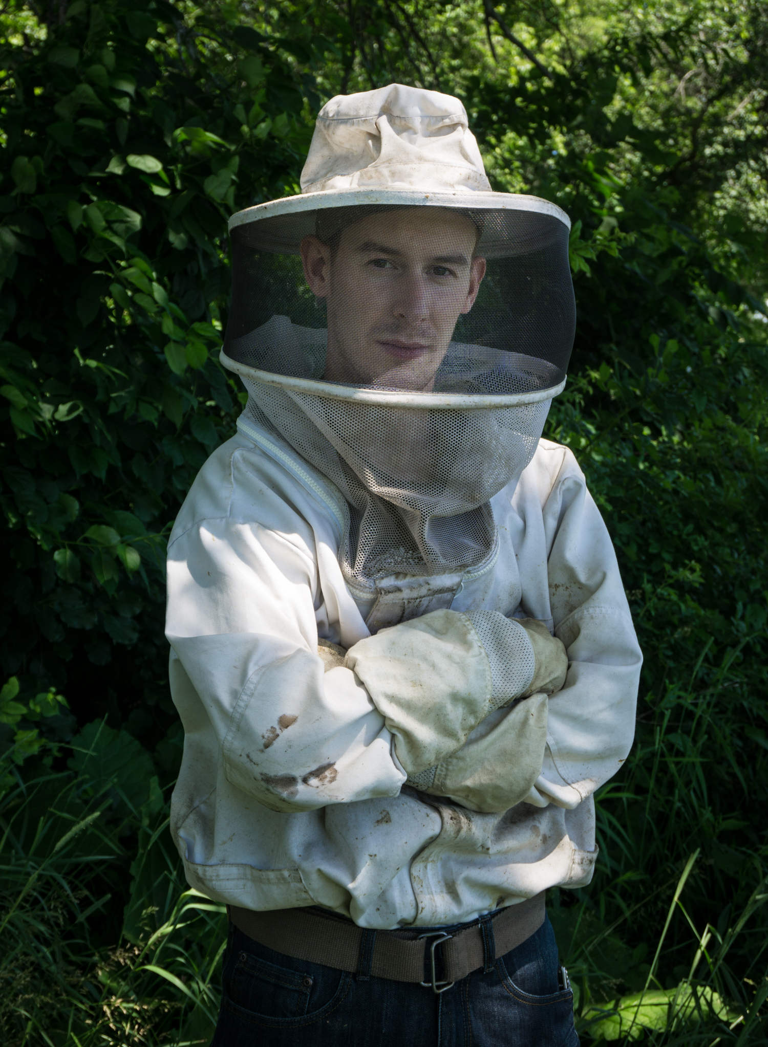 Beekeeper Evan Reseska has been working with bees his whole life along side his Dad and company founder Andy Reseska.