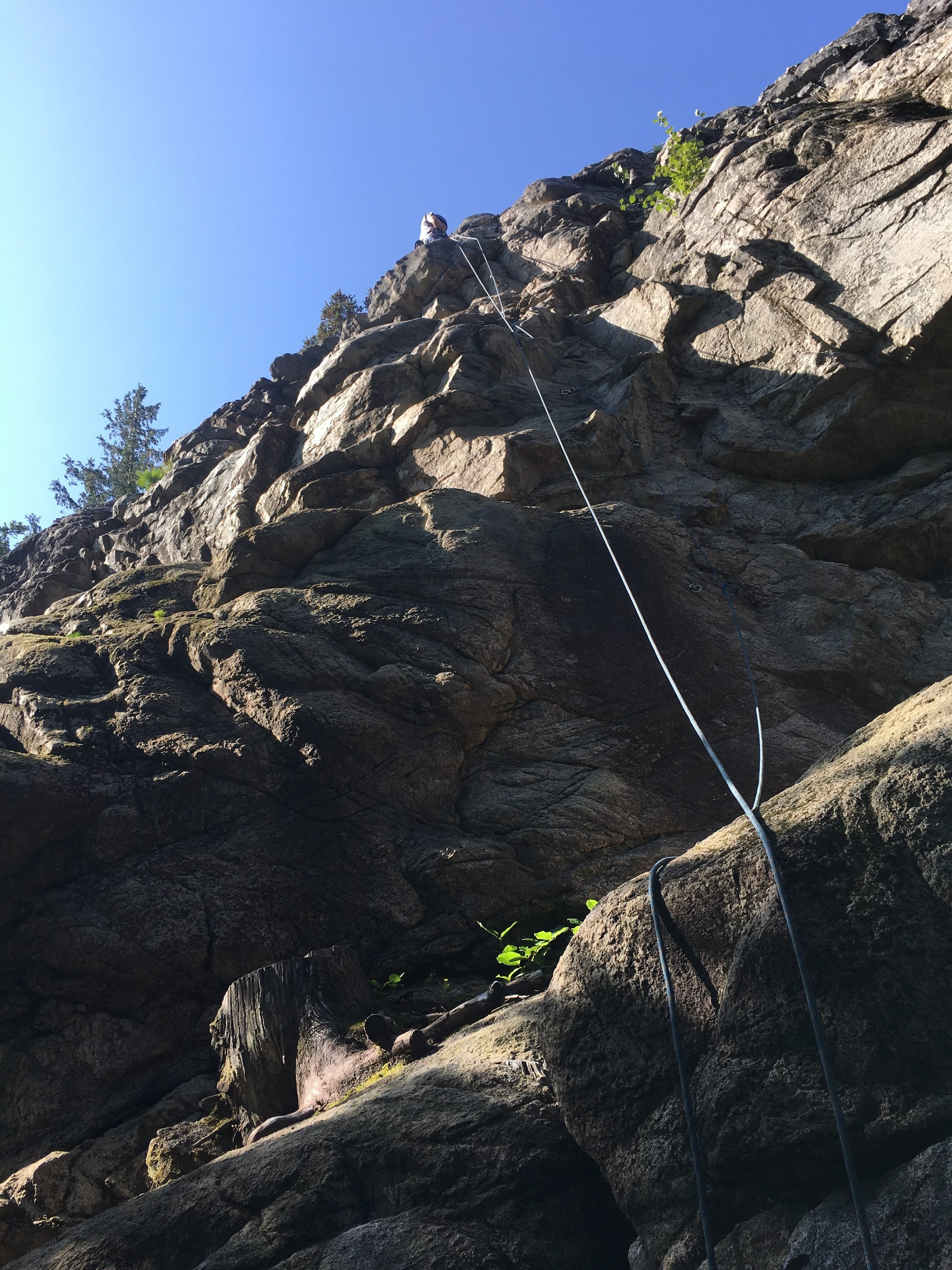 Mike on his first rappel!
