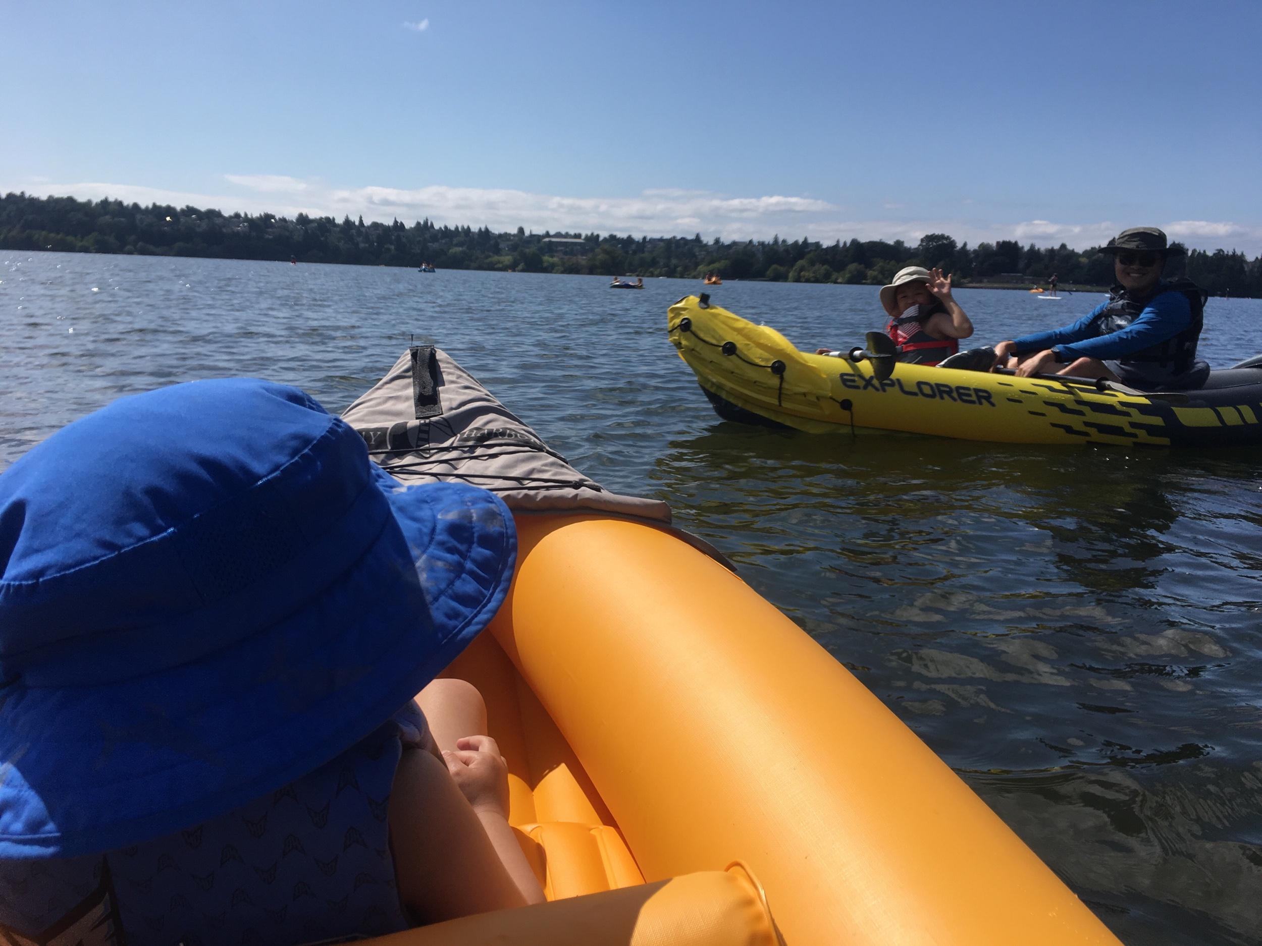 Kayaking on Green Lake