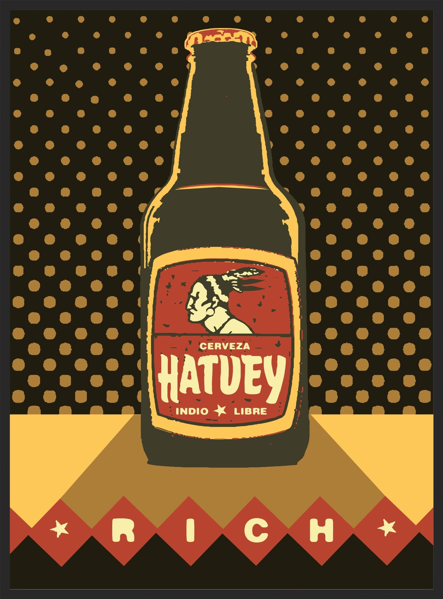 Hatuey Rich  |  Unframed $180  |  Shadow box framed $375  |  archival inkjet print  |  16x20 inch