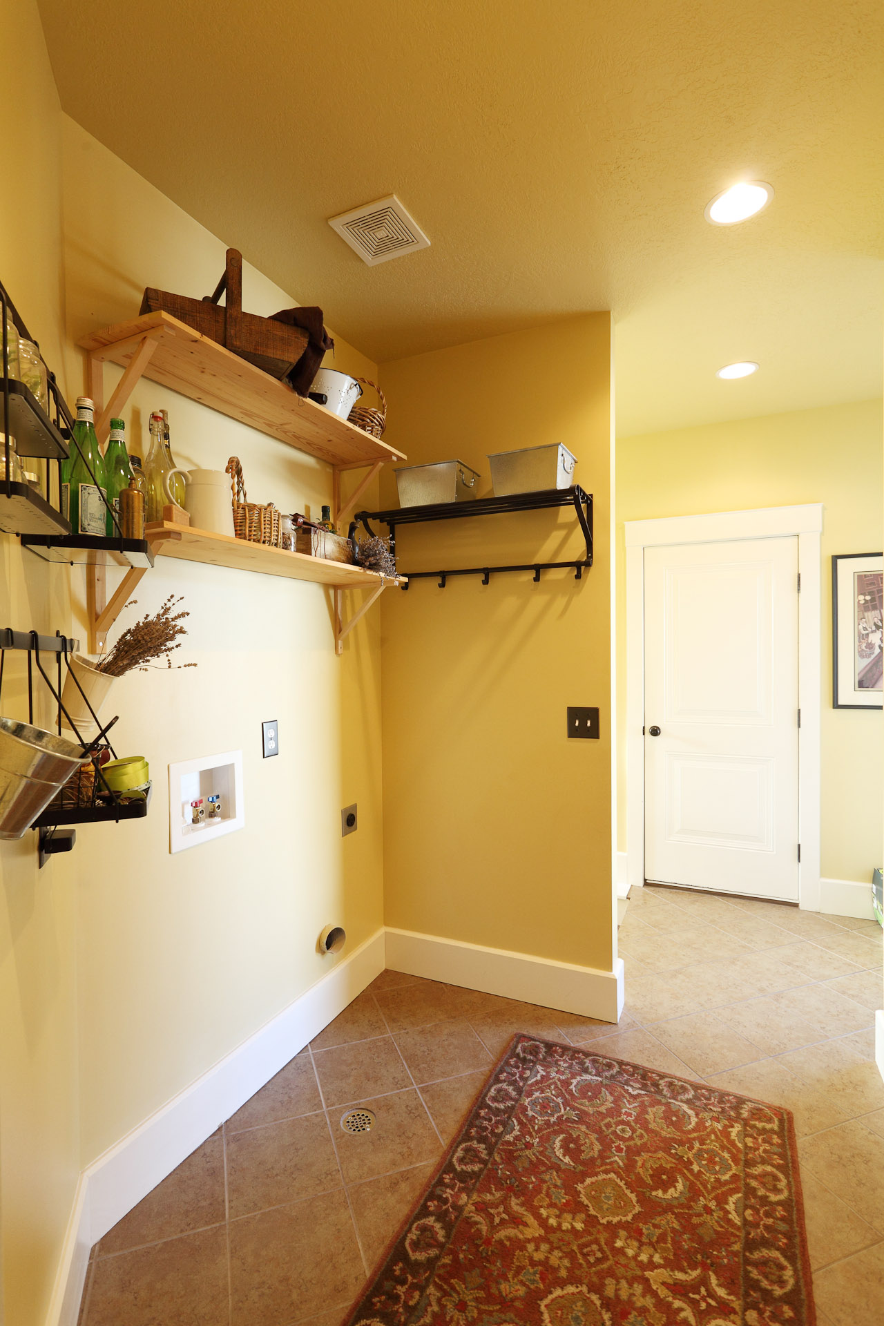 Upstairs Laundry and Mudroom