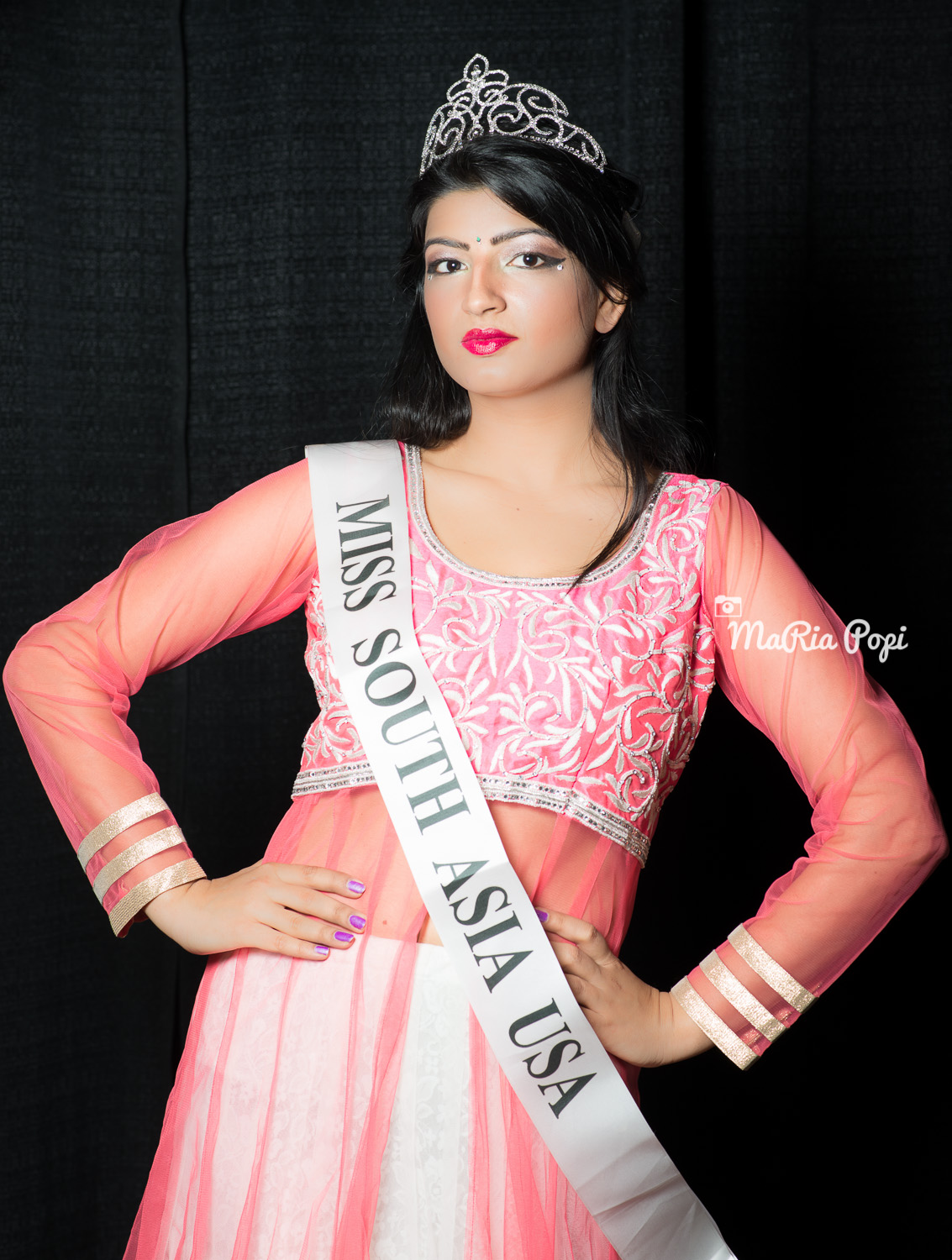 Miss SOUTH ASIA USA 2014 - Veena Gurbani photographed at Michigan International Women's Show, Novi, Mi.
