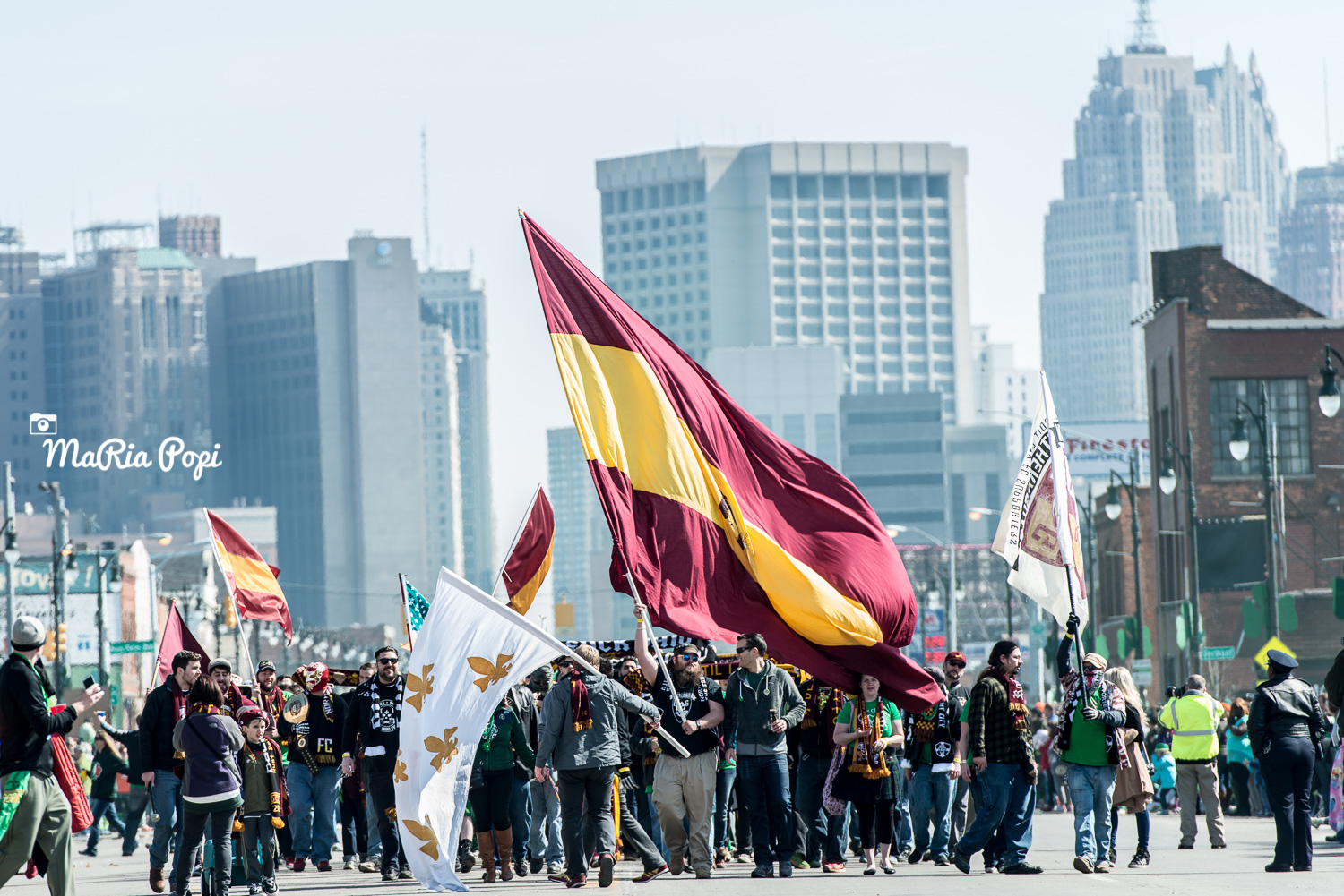 Detroit City FC at St. Patrick's Day Parade on Michigan Avenue