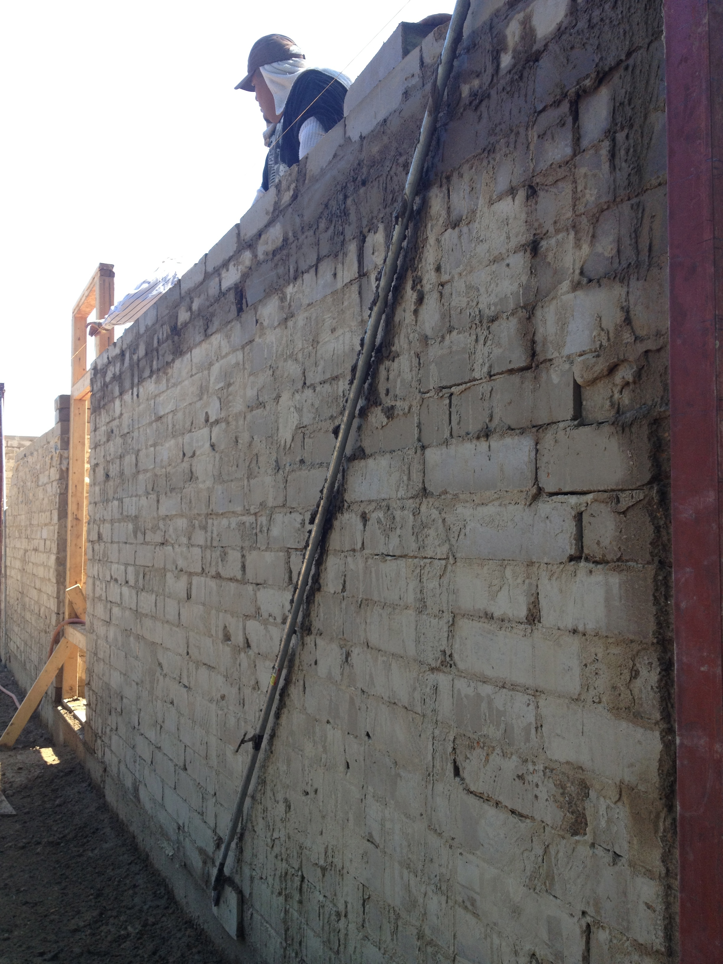 The final building nears completion of the walls