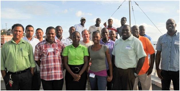 Participants at the Grenada MPA enforcement training, 2013.
