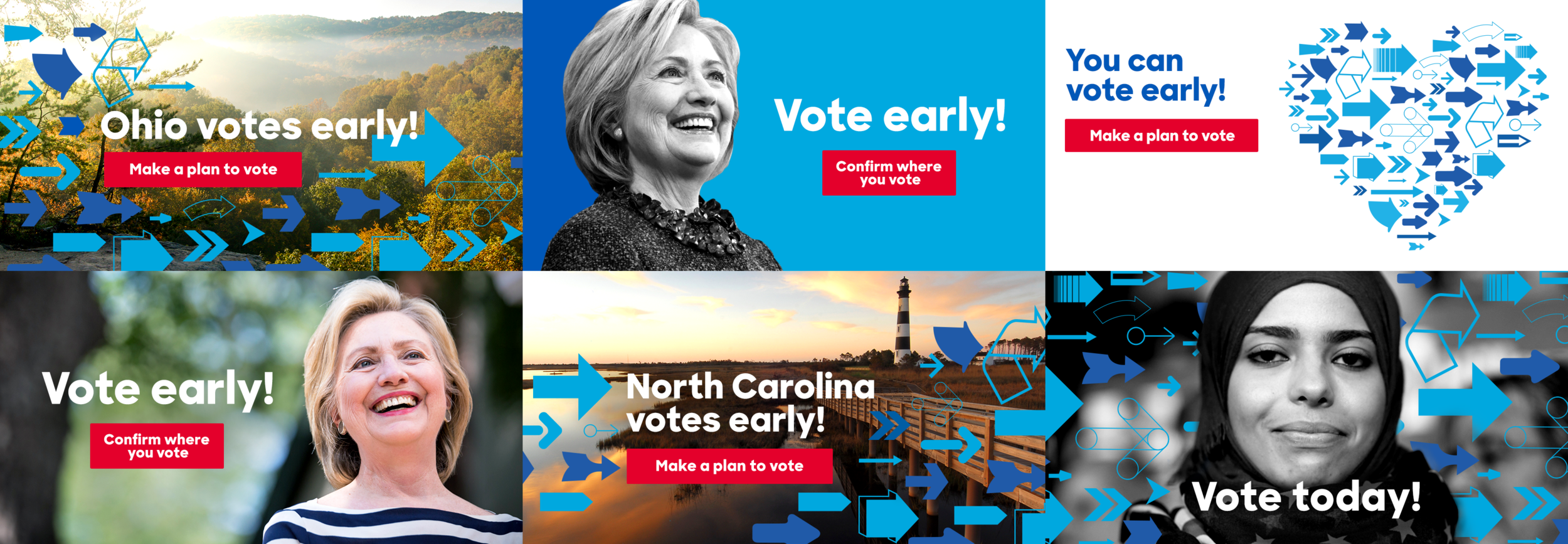 Early voting Facebook and Twitter ads
