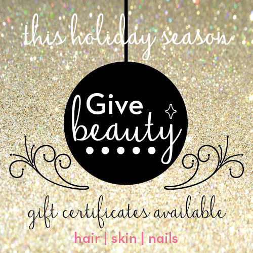 holiday beauty gift certificates