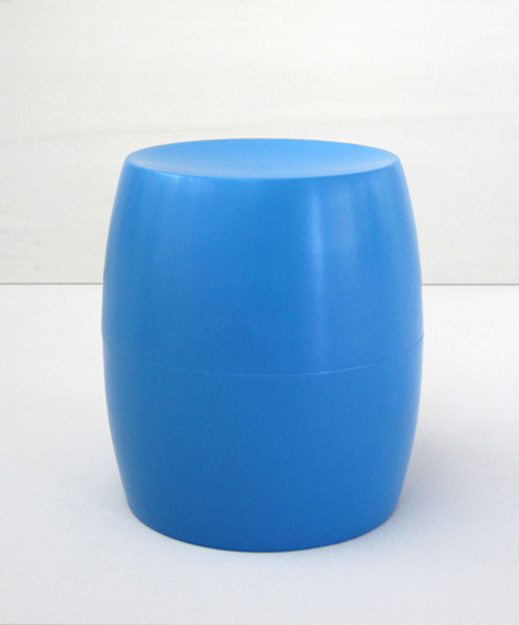 korban flaubert_light blue bongo stool