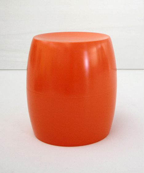 korban flaubert_orange bongo stool