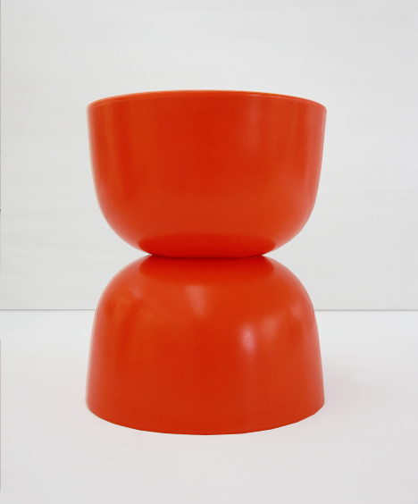 korban flaubert_tangerine bubble stool