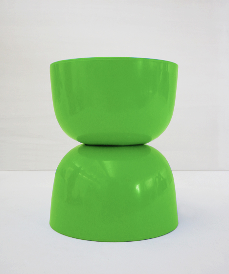 korban flaubert_lime green bubble stool