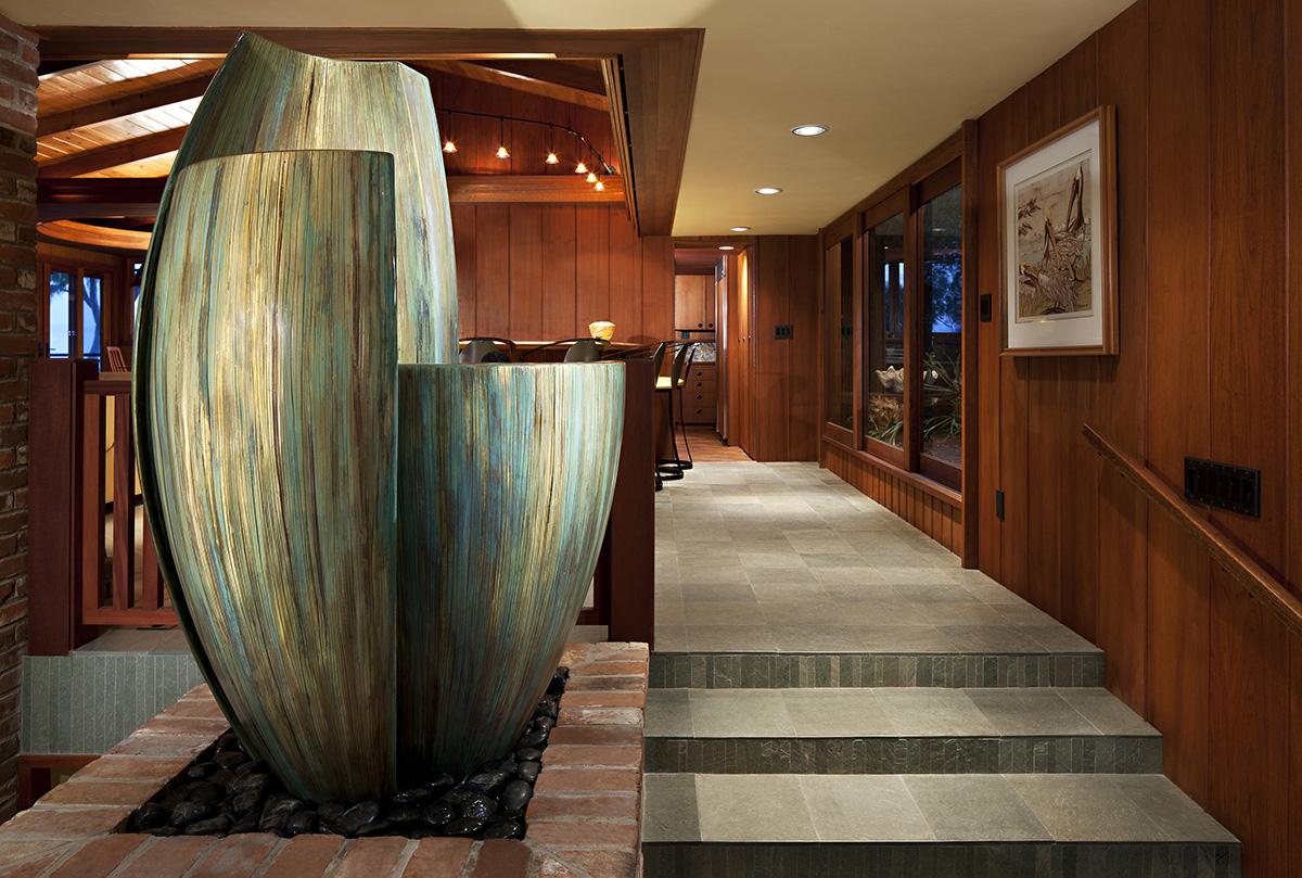 Ascentience , Cast Bronze, Water, 6' x 4' x 4', 2010, Private Residence, Point Loma, CA