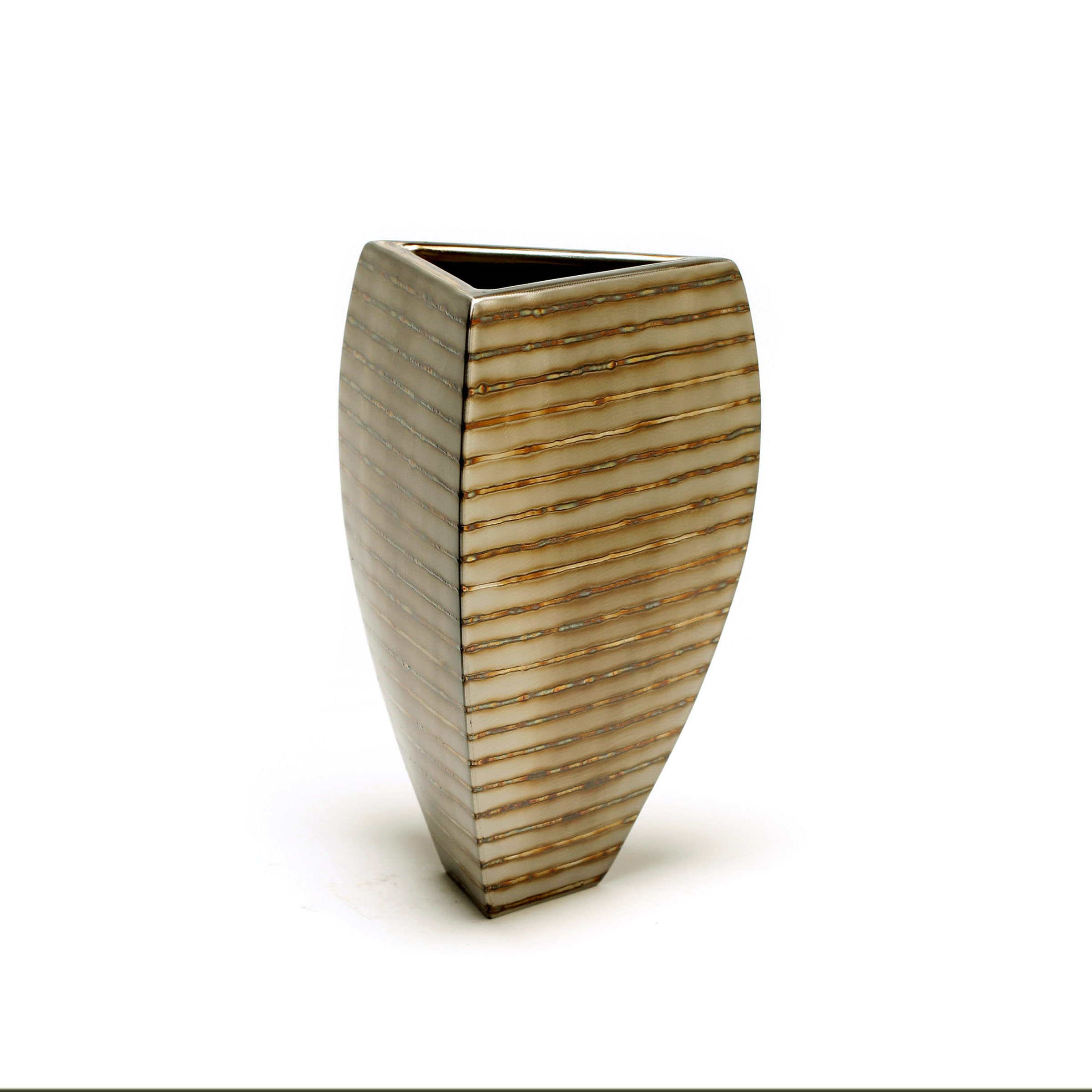 "Tri-Bowl - horizontal stripe  10"" x 7"" x 7"""