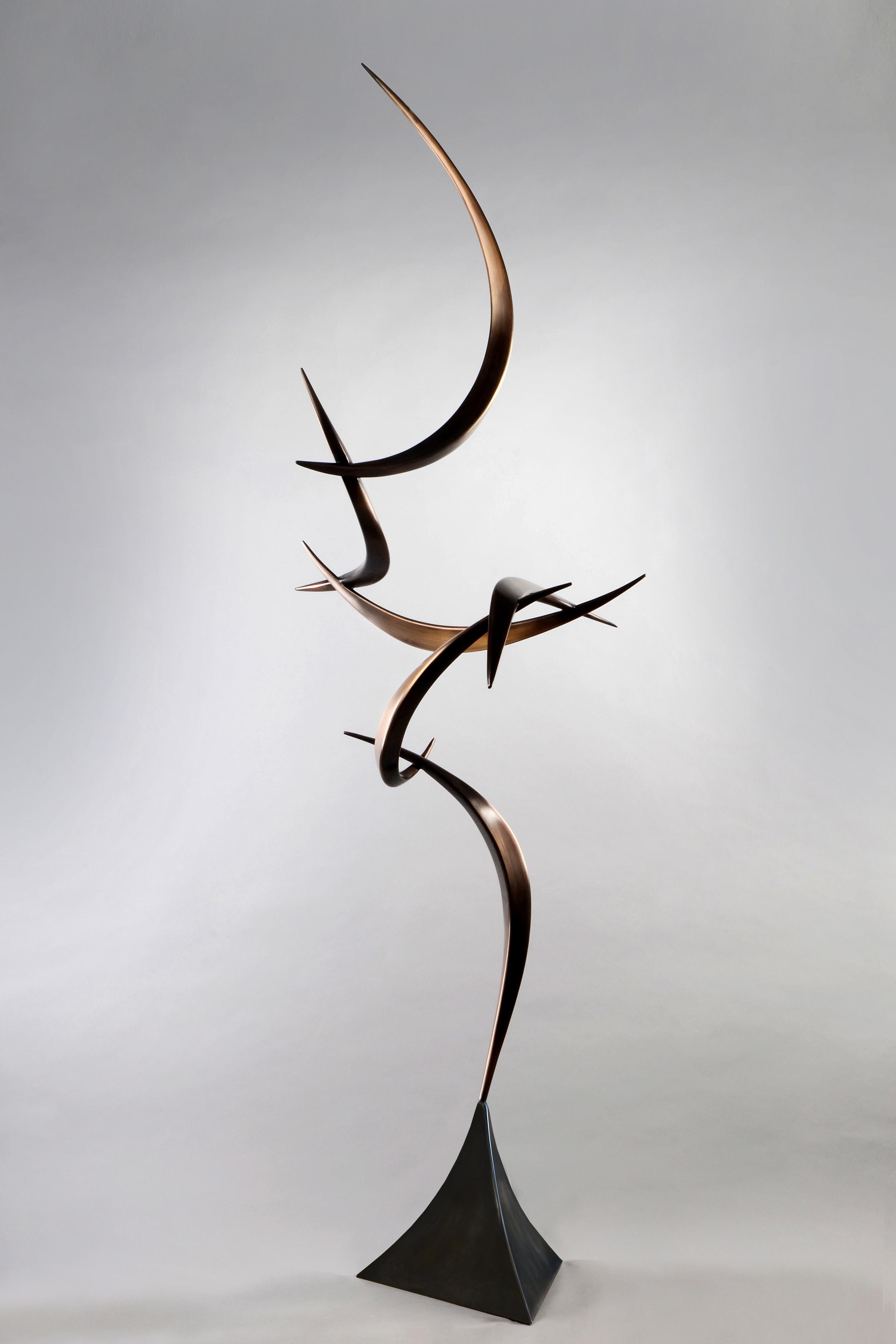 """Stasis , Bronze & Steel, 85"""" x 32"""" x 30"""", 2014"""