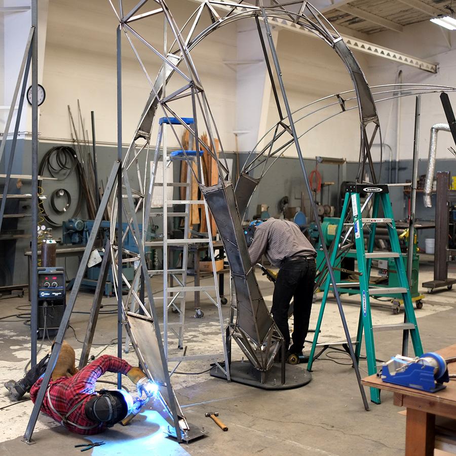 Equipoise - studio fabrication