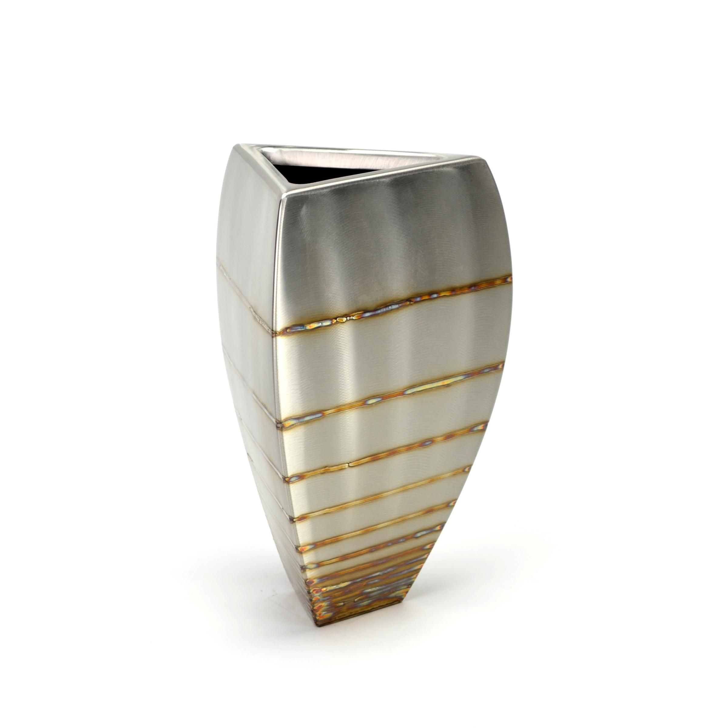 "Tri-Bowl - graduated stripe , 10 x 7"" x 7"", Stainless Steel"