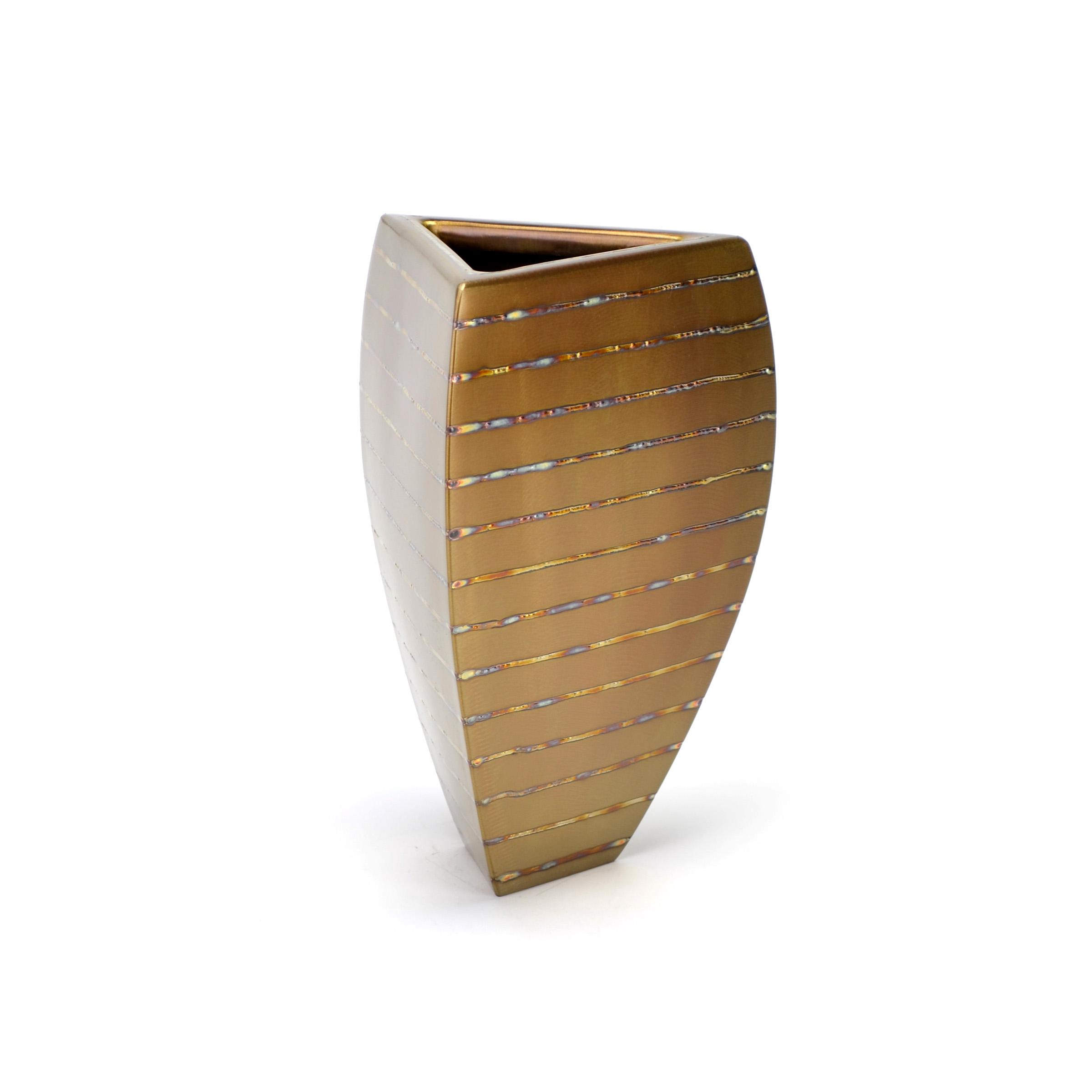 "Tri-Bowl - horizontal heat stripe , 10 x 7"" x 7"", Stainless Steel"