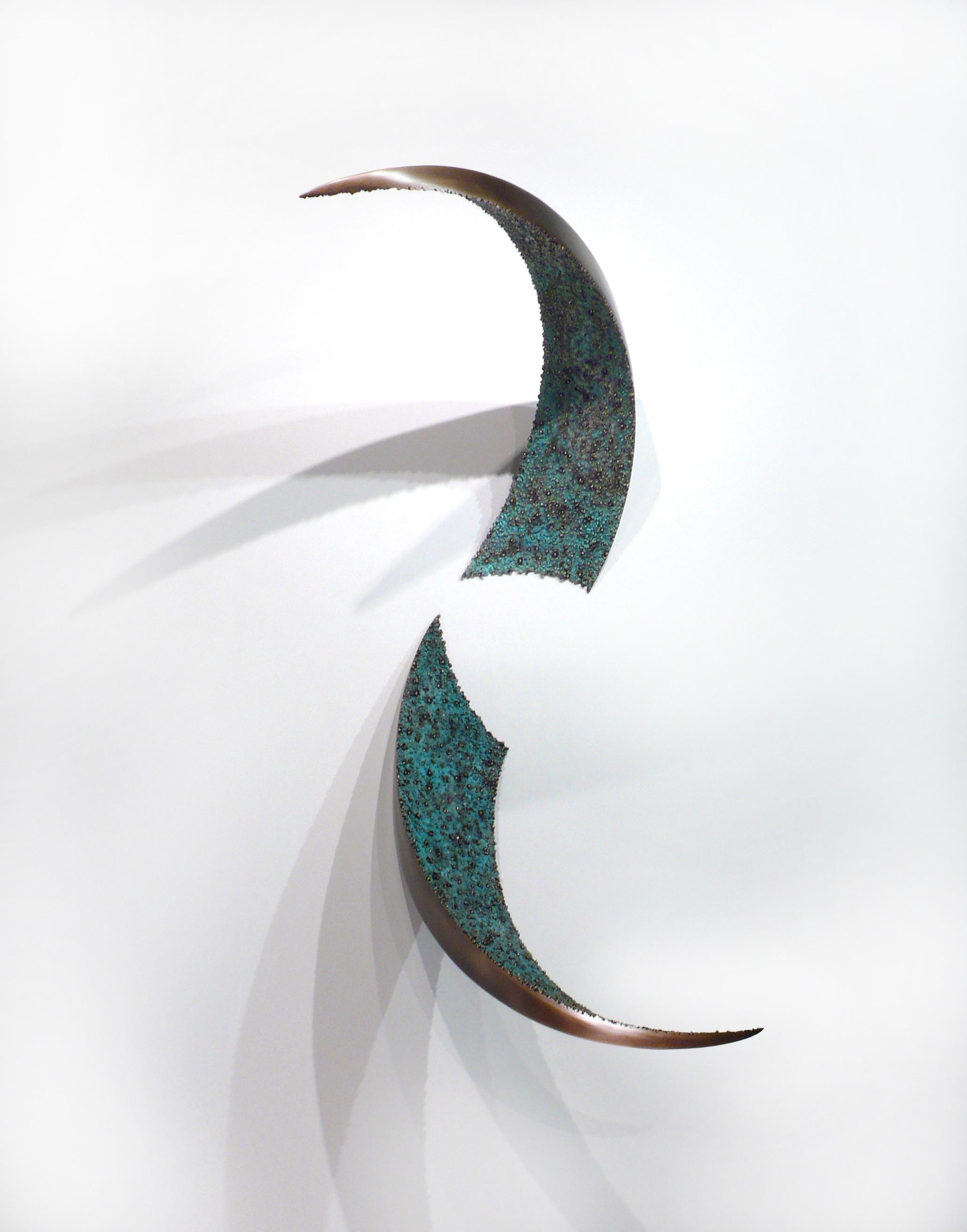 """Wall Pierce , Bronze, 48"""" x 33"""" x 25"""", 2015 (wall mounted)"""