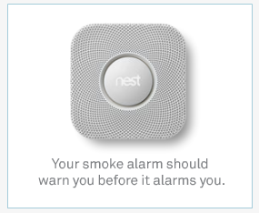 Nest Protect digital display ad. Draws attention to the interesting image which also includes the brand name.