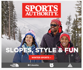 Sports Authority digital display ad. Very clear brand and message to get your winter gear.