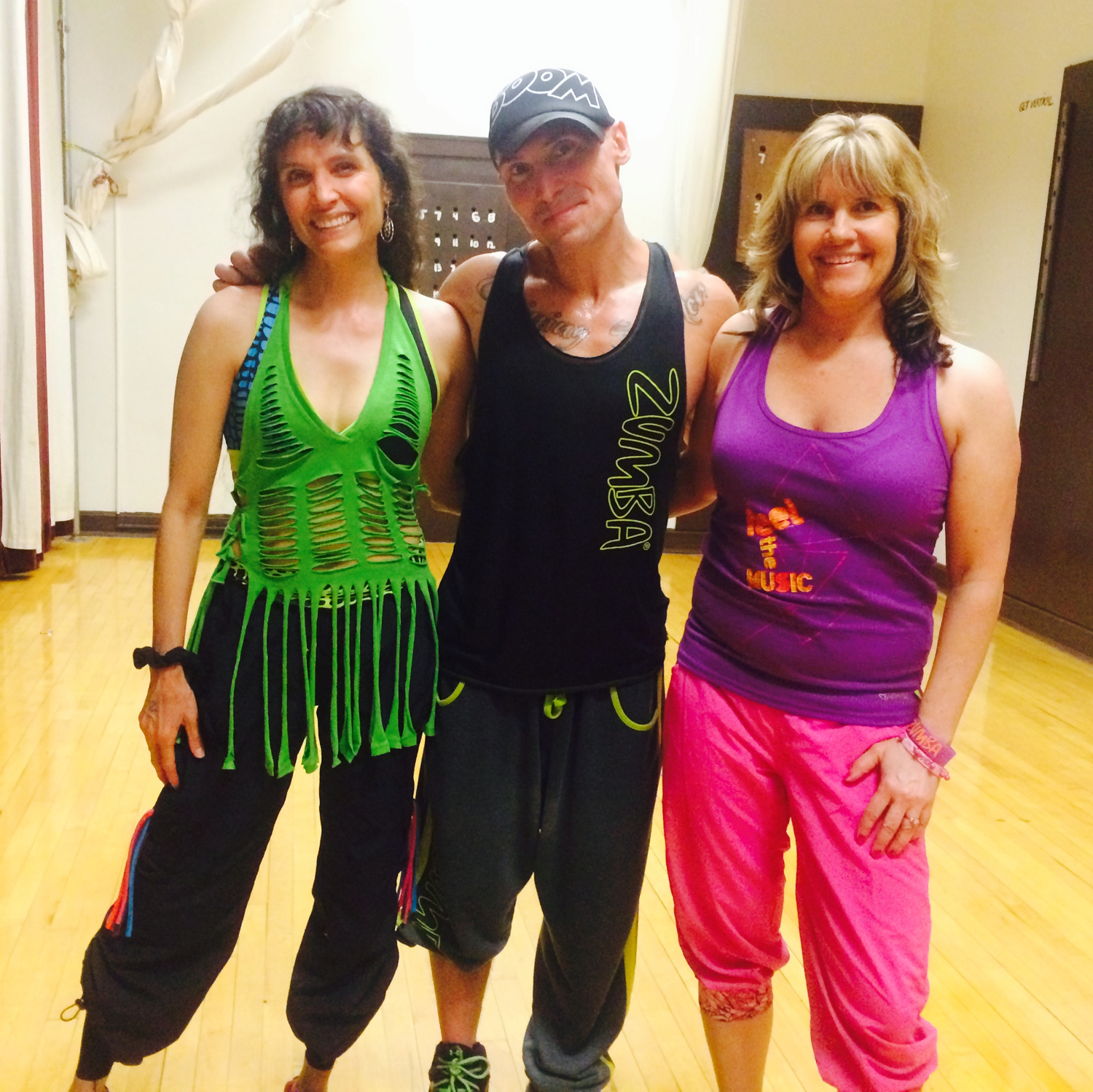 Gina with Zumba Royalty Acea Theroux Zes and Nancy Mehring