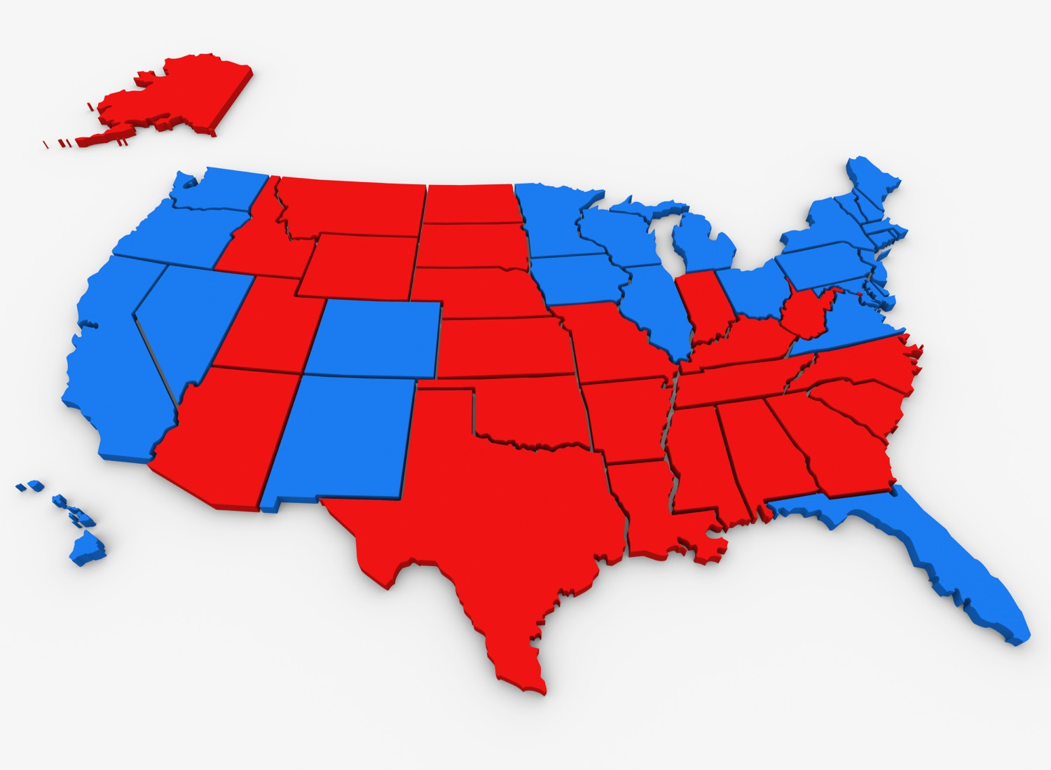 Red Vs Blue United States America Map Presidential Election.jpg