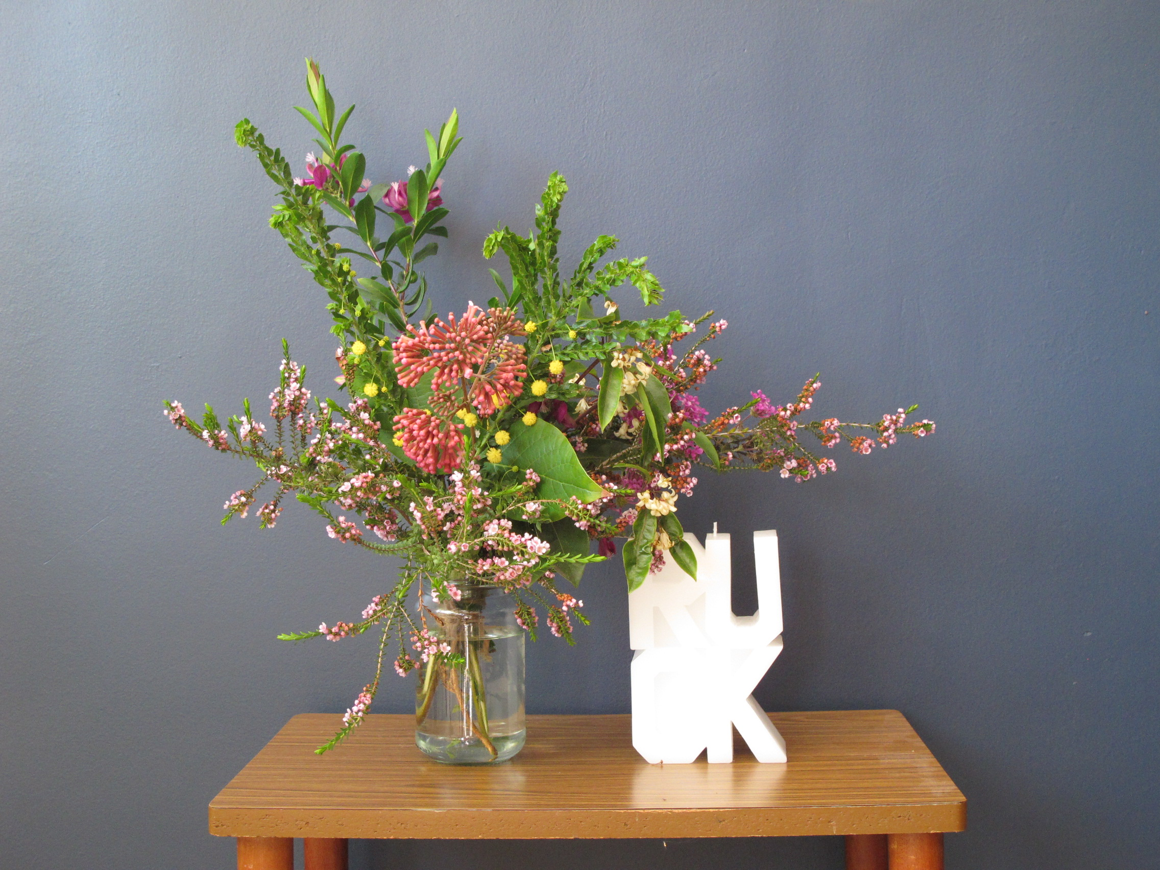 Flowers 'foraged' from St Kilda's backstreets: RUOK, 2010, Rose Nolan, edition 314/1000.