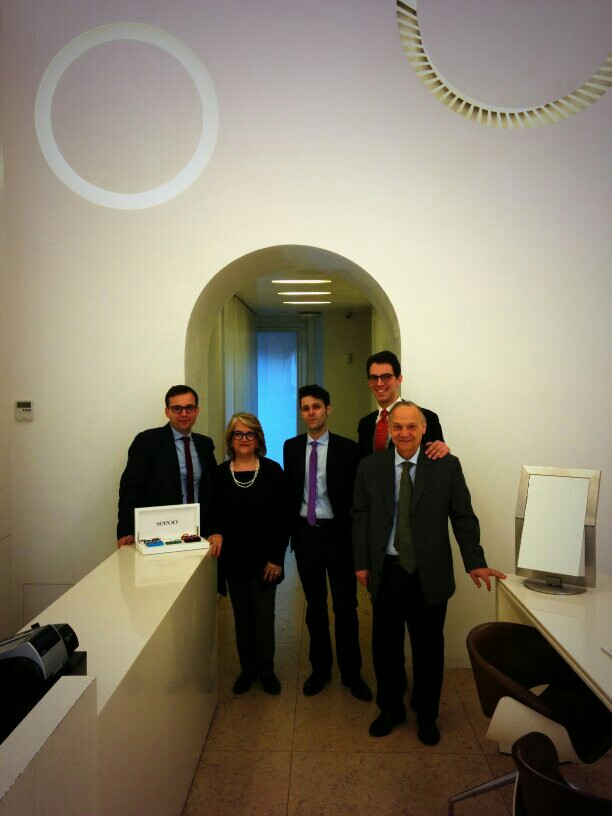 Ottica Astrologo staff in Rome.